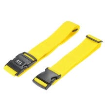 -Long Cross Luggage Strap Separable Suitcase Belts Travel Tags Accessories with 3 Dial Combo Lock Bag Bungee Strap Yellow on JD