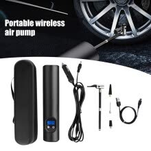 -Portable wireless air pump Air electric tire inflator car bike bicycle auto car on JD