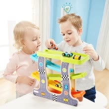 -Kid's Creativity and Reasoning Four Track Ramp Racer 4 Racers Fashion Gifts Urban RoadTrack Car on JD