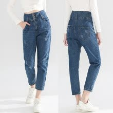 -〖Follure〗Fashion Womens High Waist Frazzle Button Zipper Pocket Denim Jeans Sexy Pants on JD