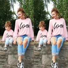-Family Matching Sets Mother&Daughter Winter Sweater Tee DSDDY MOMMY KIDS Clothes on JD