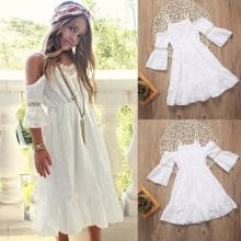 -Flower Girl Kids Princess Vintage Lace Dress Wedding Party Pageant Dresses Beach on JD