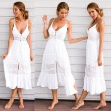 -Women's' Summer Vintage Boho Long Maxi Evening Party Beach Dress Floral Sundress on JD