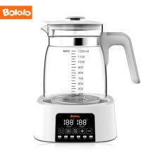 -Bologo (bololo) warm milk device intelligent thermostat baby milk control automatic constant temperature kettle warm milk green lotus green 1200ML on JD