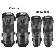 -4 Pcs KKnee Pads+Elbow Breathable Waterproof Elastic Warm and anti-scratch Shin Guards Protector for Motorcycle Skating Cycling Bi on JD