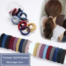 -20PCS/Set Scrunchie Storage Box Packaging Bold High Elastic Towel Ring Hair Band Rubber Band Hair Accessories on JD