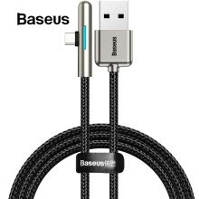 -Baseus Colorful Lighting USB Type C Cable Elbow 40W for Huawei 2A Charging Cable USB C For Samsung Xiaomi Redmi Note 7 on JD