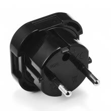 -Travel Uk To Eu Euro Plug Ac Power Charger Adapter Converter Socket Top on JD