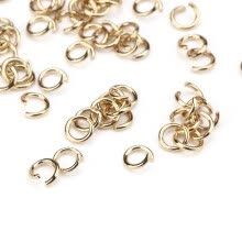 -〖Follure〗100pcs Metal 5 mm Open Rings Split Rings Gold Connectors For Jewelry Making on JD