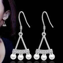 -1 Pair Classic Imitation Pearl Pendant Earrings for Ladies Fashion Female Models Cute Long Tassels Dangle Earrings WHJ54 on JD