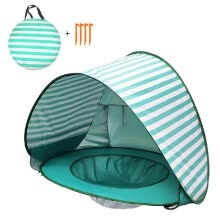 -Pop Up Baby Beach Tent Waterproof Anti-UV Sun Shelter with Pool Kids Outdoor Sun Shade Awning Tent on JD