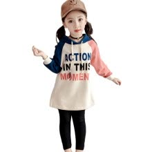 -Children Kids Girls Spring  Casual Cotton Long Sleeves Printed Hooded Dresses on JD