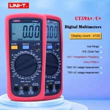 voltmeter-UNI-T UT39A+ UT39C+ Digital Multimeter Auto Range With LCD Backlight Data Hold Multimetro tester on JD