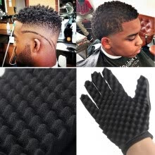 -Gobestart  1PC Fashion Curls Coil Magic Tool Wave Barber Hair Brush Sponge Gloves on JD