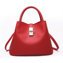 -New Style Women Fashion Color Clemence Bag Open Shoulder Soft Embossed Zipper Portable Bags Size (31*18*23)cm on JD