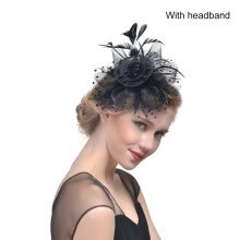-Bridal Net Feather Hats Birdcage Net Wedding Headband Hats Bridal Fascinator Face Party Wedding Hair Accessories on JD