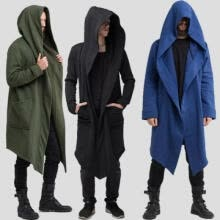 -Fashion Mens Womens Unisex Gothic Long Hoodie Cardigan Coat Loose Jacket Outwear on JD