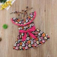 -Halloween Baby Girls Off Shoulder Lace Tutu Dress Party Pageant Dress Clothes on JD
