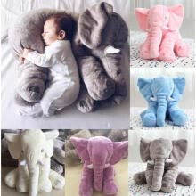 -Long Nose Elephant Doll Pillow Soft Plush Stuff Toy Lumbar Pillow For Baby Kids on JD