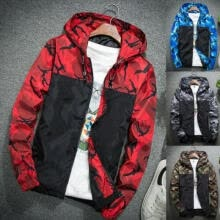 -Men's Casual Hooded Coat Slim Jacket Overcoat Thin Windbreaker Hoodie Zipper Up on JD