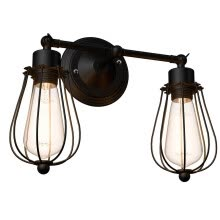 -Wire Caged Vintage Industrial Retro Edison Wall Lamp on JD