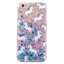 -Purple Horse Fluorescent Liquid Flash Phone Protective Sleeve Case For Iphone 6 4.7inch on JD