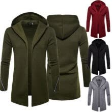 -Long Overcoat Coat Jacket Trench Winter Warm Men's British Casual Wool Outwear on JD