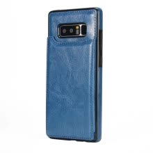 -Case for Samsung Galaxy Note 8 Card Holder with Stand Back Cover Solid Color Hard PU Leather on JD