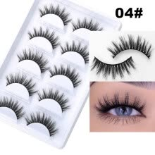 -5 Pairs 3D Mink Hair False Eyelashes Natural/Thick Long Eye Lashes Wispy Makeup Beauty Extension Tools on JD