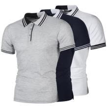 -NEW Mens Stylish Casual T-Shirts Slim Fit Short Sleeve POLO Shirt Tops on JD