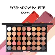 -40 Color Matte Eyeshadow Pallete Glitter Powder Eye Shadows Earth Brush Set Nudes Palette Stamps Pigment Tools on JD