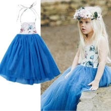 -Kids Girl Princess Pageant Birthday Party Long Dress Maxi Gown Flower Girl Dress on JD