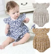 -NWT Sweet Newborn Baby Girls Flowers Romper Jumpsuit Outfits Clothes Summer USA on JD