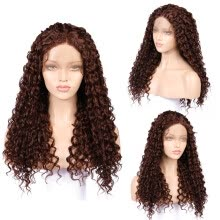 -Gobestart  Long Full Wavy Front Lace Wig Afro Kinky Curly Natural Hair Wigs Women on JD