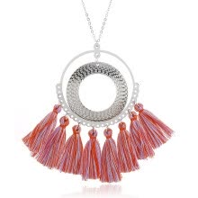 -Sale Women Long Tassel Necklace Bohemian Colorful Vintage Ethnic Punk Style  Necklace Fashion Jewelry Drop Ship on JD
