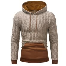 -Men 's Fashion Lattice Colored Sweater Pullover on JD