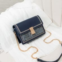 -Autumn and winter hair tweed chain lady on the tide feeling one shoulder slant bag fashion ins on JD