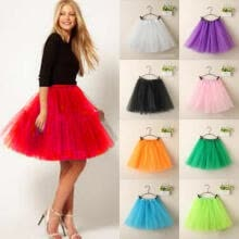 -Fashion Tulle Ballet Women Cute Flare Gauze Tutu Candy Color Mini Lace Skirt on JD