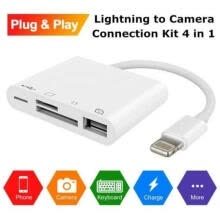 -4 in 1 USB Camera Connection Kit SD Card Reader Adapter for Apple iPad/iPhone on JD