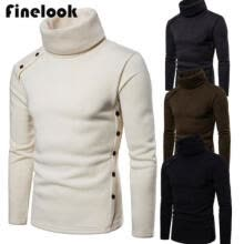 -US Men's High Collar Sweater Turtleneck Long Sleeve Stretch Jumper Shirts Tops on JD
