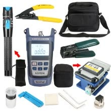 -Fiber Optic FTTH Tool Kit FC-6S Cutter Cleaver Optical Power Meter Visual Device FTTH Assembly Optical Fiber Termination Tool Kit on JD