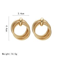 -2019 Vintage Earrings Big For Women Statement Drop Earrings Geometric Golden Color Metal Pendant Earrings Trend Fashion Jewelry on JD