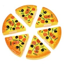 food-processors-6PCS Childrens/Kids Pizza Slices Toppings Pretend Dinner Kitchen Play Food Toys on JD