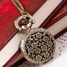 -【MIARHB】Hot Fashion Vintage Retro Bronze Quartz Pocket Watch Pendant Chain Necklace ( watch for women ) on JD