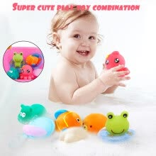 -Baby Bath Toys Cartoon Marine Animals Kids Bathtub Salvage Toys For Toddlers on JD