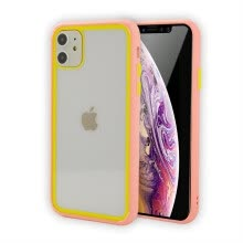 -Candy Hit Color frame Shockproof Bumper Phone Case For iPhone 11 Pro X XR XS MAX 6 6S 7 8 Plus Transparent Soft Silicone Cover on JD