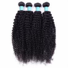 -Brazilian Curly Hair Weave 3/4 Bundles Brazilian Kinky Curly Virgin Human Hair 100% Unprocessed Hair Weft Extensions Natural Color on JD
