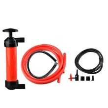-Portable Manual Oil Pump Siphon Tube Car Hose Fuel Gas Extractor Transfer Sucker Inflatable Pump Tool Automobile Emergency Supplie on JD