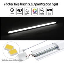 -2X 120cm LED Batten Linear Tube Light Ceiling Lamp Natural White 6000K 110V on JD