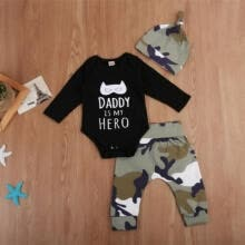 -US Newborn Kid Baby Boy Tops Romper Pants Legging Camouflage Outfits Set Clothes on JD